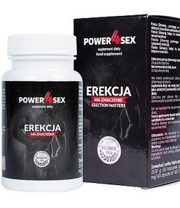 Power4sex - silna erekcja, 60 caps