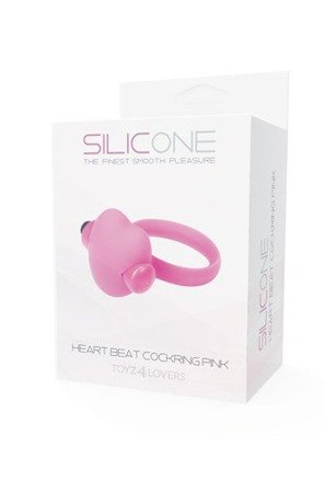 Heart Beat Cockring Silicone Pink