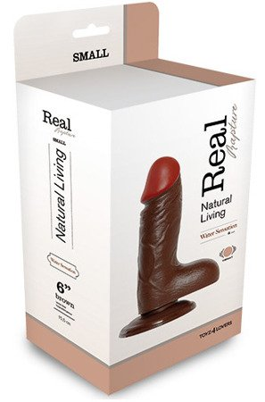 Realistic Vibrator Real Rapture Brown z wibracjami